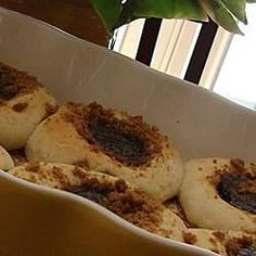 These yeasted breakfast pastries are stuffed with a sweet prune filling. They& a tradition on many holiday brunch tables. Poppy Seed Filling, Breakfast Pastries, Breakfast Items, Breakfast Recipes, Brunch Table, Czech Recipes, Sticky Buns, Streusel Topping, Thing 1
