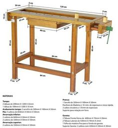 Woodworking Bench Plans, Workbench Plans, Easy Woodworking Projects, Woodworking Tools, Wood Projects, Building A Workbench, Portable Workbench, Deco Furniture, Unique Furniture