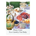 COUNTRY CELEBRATION TEA PARTY INVITATION #weddinginspiration #wedding #weddinginvitions #weddingideas #bride