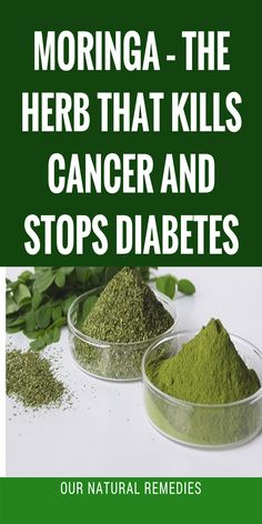 Moringa – The Herb That Kills Cancer And Stops Diabetes - Our Natural Remedies Foods That Cure Cancer, Cancer Fighting Foods, Cancer Cure, Natural Health Tips, Natural Health Remedies, Natural Cures, Natural Treatments, Nutrition Tips, Health And Nutrition