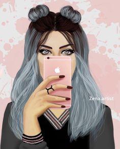 Pinterest: just4girls Girly M, Best Friend Drawings, Girly Drawings, Girl Cartoon, Cartoon Art, Sarra Art, Chica Cool, Cute Girl Drawing, Cute Girl Wallpaper