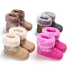 64443a08c Niños Botas Niños Botas de Invierno Gruesos Zapatos Calientes de Algodón  Acolchado Suede Hebilla Niños Niñas Botas de Nieve Botas Zapatos de Los  Niños S2
