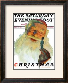 """""""Christmas, 1927"""" (King Kong Santa) Saturday Evening Post Cover, December 3,1927 Giclee Print by Norman Rockwell at Art.com"""