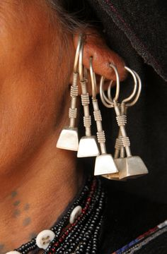 "India | ""Jewellery and tattoos""  Rabari woman's details.  May village, Gujarat. | ©Walter Callens"