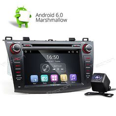 """﹩275.00. Camera Android 6.0 Car DVD Player GPS Navi System 3G WIFI SD L for Mazda 3 10-13   Manufacturer Part Number - Does not apply, Operation System - Android Marshmallow 6.0, Resolution - 1024*600, Screen Size - 8"""" High Definition Digital Capacitive Touch Screen, Mutual Control - Betweend head unit and your smart phone, Steering Wheel Control - Support( CANBUS System), WIFI/3G - Support(3G need to buy dongle extra), CPU - Allwinner R16 1.6GHz Cortex A7 Quad-Core, Supports app in"""