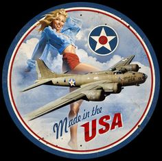 "Metal Sign "" Military Armed Forces Pin Up Girl "" Man Cave / Man Cave Decor / Garage Decor / Wall Art Vintage Metal Signs, Antique Signs, Office Wall Decor, Nose Art, Military Art, Military Humor, Pin Up Art, Pin Up Girls, Wwii"