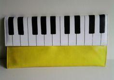 Piano Clutch by KotikaDesign on Etsy, $40.00