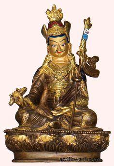 Padmasambhava, vergoldet