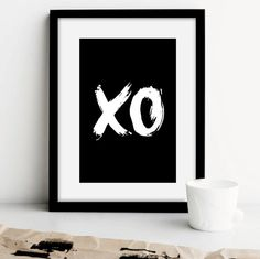 Printable Typography Art XO Hugs and Kisses by TheMotivatedType  Too cute!