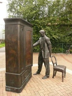 a definite see. Lewis statue in Belfast, Northern Ireland. Love Ireland, Ireland Travel, Galway Ireland, Ireland Vacation, Oh The Places You'll Go, Places To Travel, Places To Visit, Belfast Northern Ireland, Cs Lewis