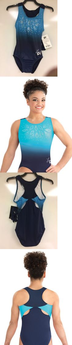 Youth 159170: New Gk Laurie Hernandez Navy Glimmer Leotard.Size Child Large Cl. BUY IT NOW ONLY: $54.0