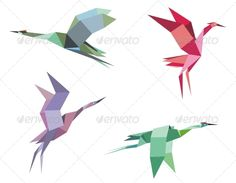 Cranes and Herons #GraphicRiver Cranes and herons birds in origami paper style for ecological or another design. Editable EPS8 (you can use any vector program) and JPEG (can edit in any graphic editor) files are included SPORTS MASCOTS MEDICINE FOOD LABELS WEDDING DESIGN ELEMENTS FLORAL OBJECTS WEB ICONS ANIMALS Created: 11April13 GraphicsFilesIncluded: JPGImage #VectorEPS Layered: Yes MinimumAdobeCSVersion: CS Tags: Heron #abstract #animal #art #artistic #asia #asian #background #bird…