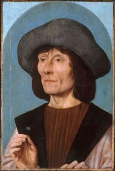Quentin Massys, Netherlandish, 1466 - 1530. Portrait of a Man with a Pink, 1500/10, Oil on panel, 43.8 x 29.2 cm  | The Art Institute of Chicago