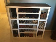 I built this awesome shoe storage cabinet and it's the first piece in an entire modular closet storage system! When I built my home, I had the opportunity to design my closet….After making so many dec Build Shoe Storage, Closet Storage Systems, Closet Shoe Storage, Shoe Storage Cabinet, Shoe Closet, Shoe Cubby, Attic Storage, Wood Shoe Rack, Diy Shoe Rack