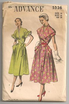 Early 1950s Sewing Pattern  Advance  by RainbowValleyVintage, £15.00