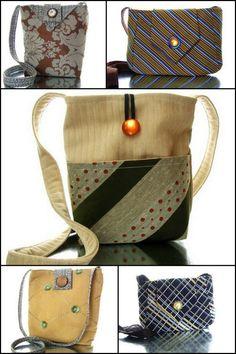 vintage tie purses