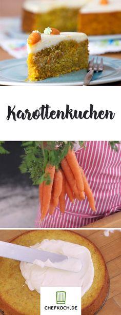 Karotten-, Möhren- oder Rüblikuchen. Dieser Kuchen ist unter vielen Namen ein echter Klassiker. Die Zubereitung zeigen wir euch im Video auf Chefkoch.
