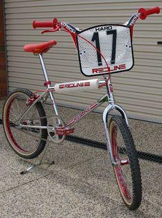 1980's Vintage Redline BMX Bike. I wanted one of these so bad. Then in 2007, I finally got my Redline!