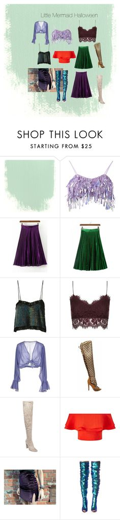 """The Little Mermaid inspired Halloween"" by sawit on Polyvore featuring Ashish, Topshop, Mes Demoiselles..., Steve Madden, Miss Selfridge and Cape Robbin"