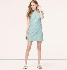 Short Sleeve Lace Shift Dress | Loft