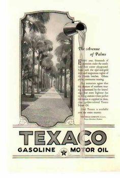Texaco Gasoline & Motor Oil 1924