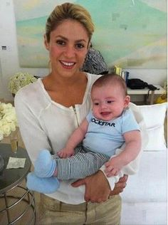 Shakira and her baby boy milan mebarak
