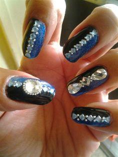 Bling Goth by MedinaGothThis - Nail Art Gallery nailartgallery.nailsmag.com by Nails Magazine www.nailsmag.com #nailart