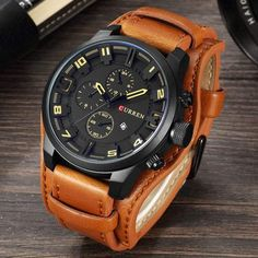 2017cool Mens Watch Analog Sport Steel Case Quartz Dial Leather Wrist Watch Gift Round Case Watch Relogio Homme Hot Sale Montre Consumers First Men's Watches