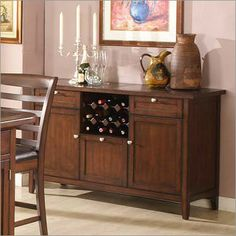 Photo of ECI Furniture Tecate Granite Top Buffet with Wine Storage (Bakers Racks, Side Boards And Servers)