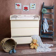 """""""R-1M"""" Fasciatoio con spigoli completamente arrotondati M! Fasciatoio adatto a tutte le cassettiere IKEA Malm (bianco)"""