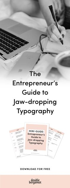 FREE GUIDE | The Entrepreneur's Guide to Jaw-dropping Typography | Professional typography is the core of quality graphic design that converts, for your blog and online business | Treat typography like how you treat grammar. | #typography #tips #resources #online #business #course #blog #graphic #design