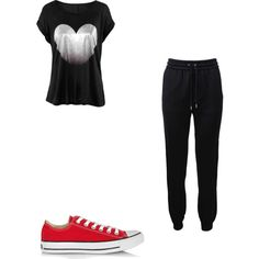 Casual af by jhanelledoesfashiontoo on Polyvore featuring polyvore fashion style Barbara Bui Converse