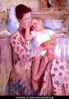 Emmie And Her Child - Mary Cassatt - www.marycassatt.org