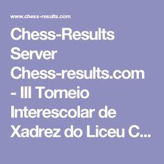 Chess-Results Server Chess-results.com - III Torneio Interescolar de Xadrez do Liceu Contemporaneo 2016