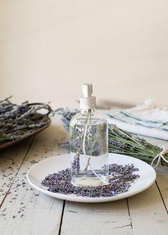 Homemade Lavender Linen Spray.