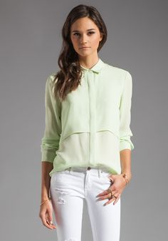 THEORY  Double Georgette Rosita Blouse
