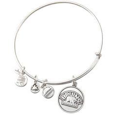 Boston Bruins Alex and Ani Rafaelian Silver Finish Bear Logo Charm Bracelet ~ I'll take 'em all!