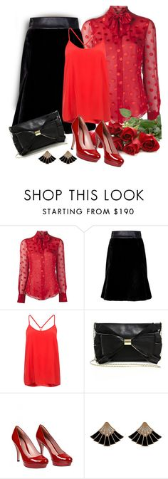 """""""New Year's Eve (outfit only)"""" by pumsiks ❤ liked on Polyvore featuring Jason Wu, W.S. Studio, Alice & Trixie, Judith Leiber and Gucci"""