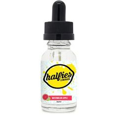 Halfies Eliquid Watermelon/Apple - This refreshing iced tea and lemonade blend is paired with juicy watermelon, and crisp apple for a bright , delightful treat.70% VG