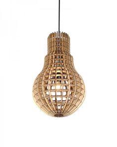 Plywood Bulb Shade Pendant Lighting