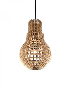 Plywood Bulb Shade Pendant Lighting