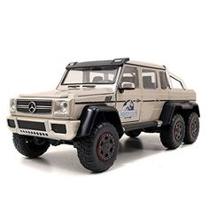 Jada Toys presents Mercedes G-Wagon 6 x 6 AMG as seen in the hit motion picture Jurassic World! This 1:24th scale vehicle measures approximately 8-inches long. Made of detailed die-cast metal with pla