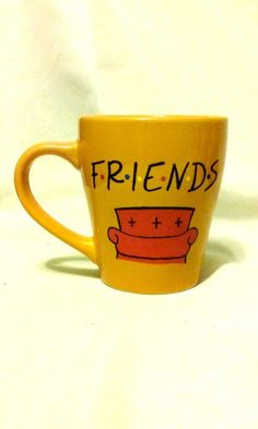 Friends Mug with Couch and Customizable Qoutes by ohMUGgoodness