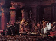 """Pastimes in Ancient Egyupe 3,000 Years Ago"", 1863, by Sir Lawrence Alma-Tadema (Dutch, 1836-1912)."