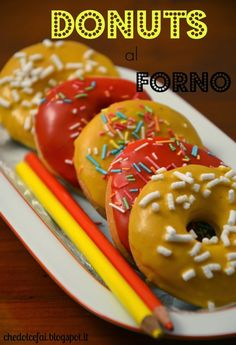Donuts al forno http://www.chedolcefai.ifood.it/2015/02/donuts-al-forno.html