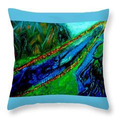 Mountain Throw Pillow featuring the painting Mountain People by Stephanie Zelaya