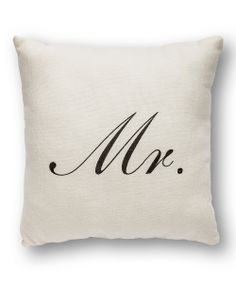 'Mr.' Throw Pillow