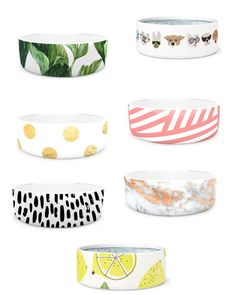 Stylish pet bowls and dog bowls for your fur baby! Would make great gifts for your pet. How great is that banana leaf dog bowl? Cute Dog Bowls, Dog Food Bowls, Pet Bowls, Best Hacks, Puppy Supplies, Dog Items, Girl And Dog, Boy Dog, New Puppy