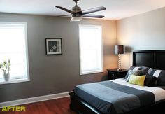 navyblueshoe: Wednesday Decor: Jen & Rich's Dwelling, Before & After; I would love to have a hardwood bedroom; I think it just looks so much cleaner