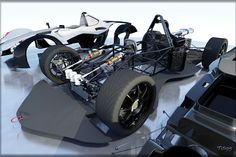 Sports car (with details) BAC MONO - AutoCAD, Autodesk 3ds Max, OBJ, STEP / IGES, Other - 3D CAD model - GrabCAD